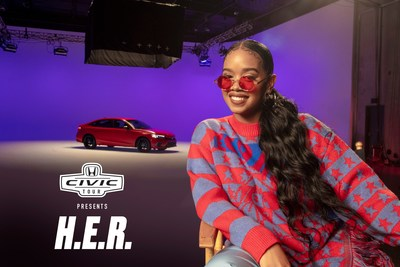 H.E.R. Headlines 20th Anniversary Virtual Honda Civic Tour, Taking Fans on a Mixed Reality Journey Featuring All-New 2022 Honda Civic