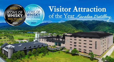 "La destilería Kavalan obtiene por tercera vez el premio ""Atracción de Visitantes"" (""Visitor Attraction of the Year"") de Icons of Whisky"