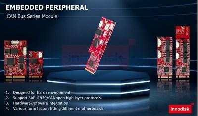 Innodisk lanza módulos CAN Bus para sistemas inteligentes no tripulados (PRNewsfoto/Innodisk Corporation)