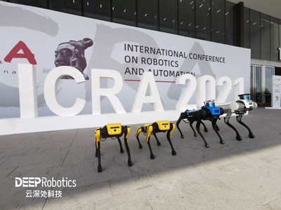 Smart quadruped robot Jueying makes an appearance at ICRA 2021