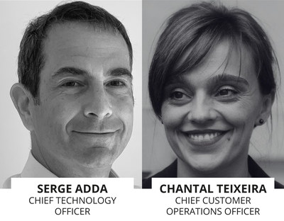 To the left, Serge Adda, CTO and to the right, Chantal Teixeira, CCO of Vocalcom