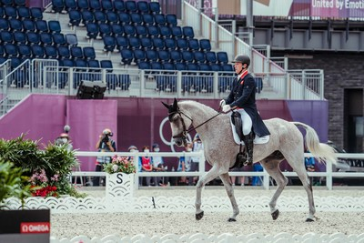 World number one, Oliver Townend, helped Great Britain take the lead with the best individual score on the first day of the Dressage phase of Eventing at the Tokyo 2020 Olympic Games in Baji Koen today. (FEI/Christophe Taniere)